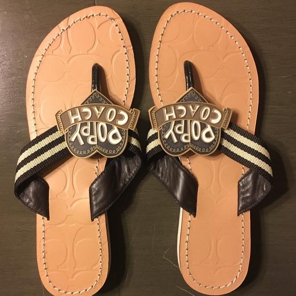 Coach Shoes - Coach Size 6 Flip Flops